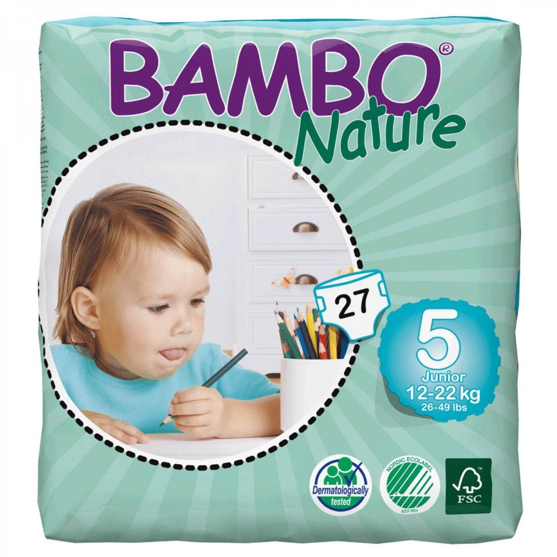 Купить Подгузники Bambo Nature Junior 12-22 кг (27 шт), Дания