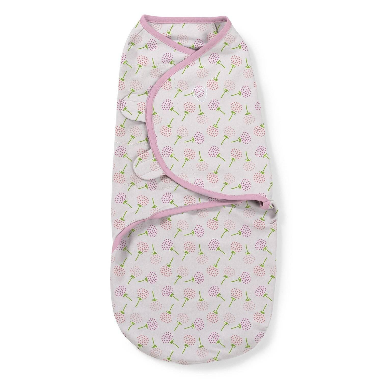 Summer Infant Конверт на липучке Swaddleme, размер S/M, цветочки по цене 1 210