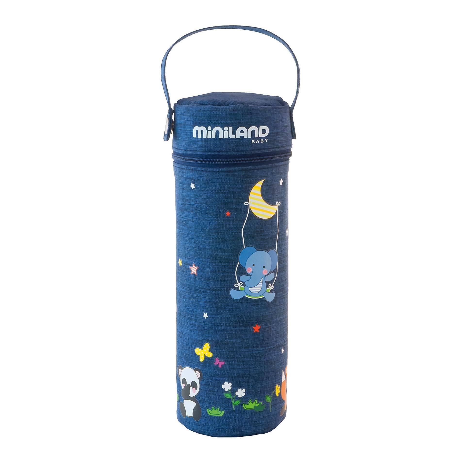 Купить Miniland Термосумка для бутылочек Denim, 500 мл, Китай