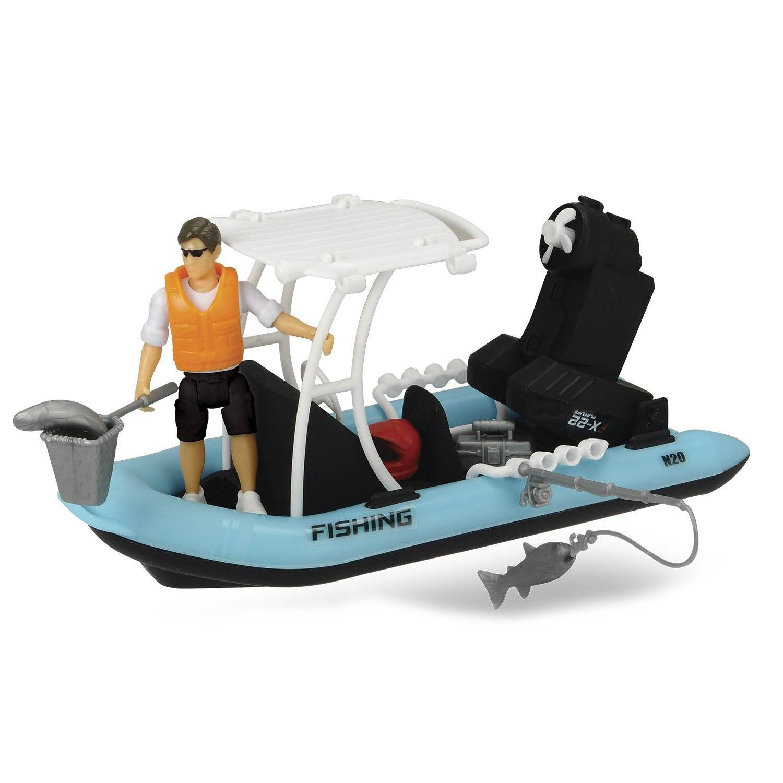 Dickie Лодка PlayLife рыбацкая с фигуркой и аксессуарами