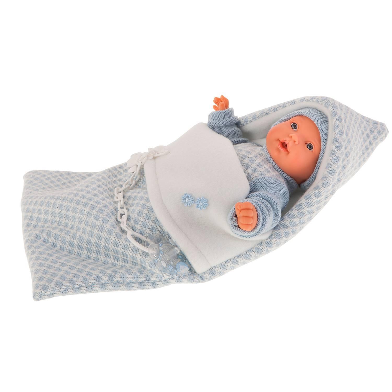 Antonio Juan Кукла Мерсе в голубом в конверте, плачущая, 27 см