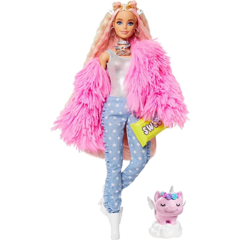 Купить Barbie Кукла Экстра в розовой куртке, Индонезия
