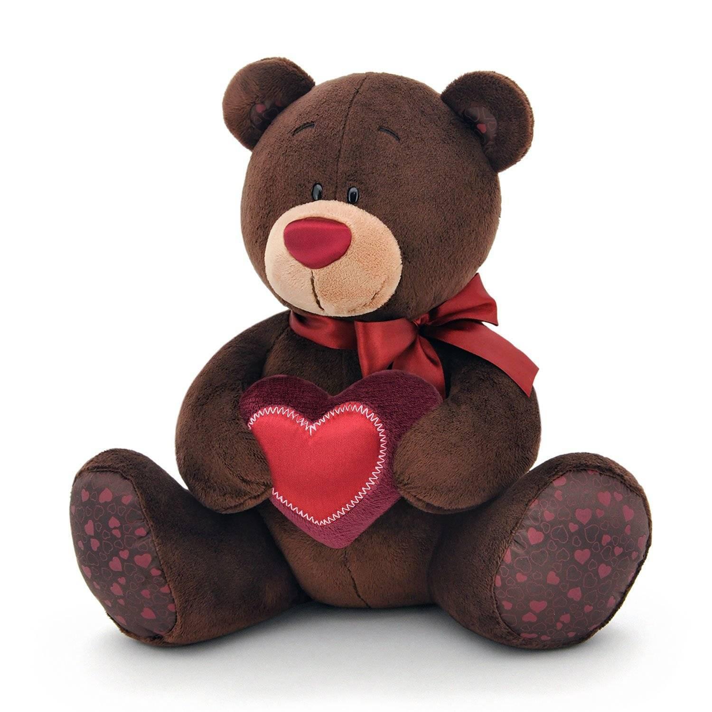 Купить Orange Toys Мягкая игрушка Медведь Choco с сердцем , 20 см, Китай