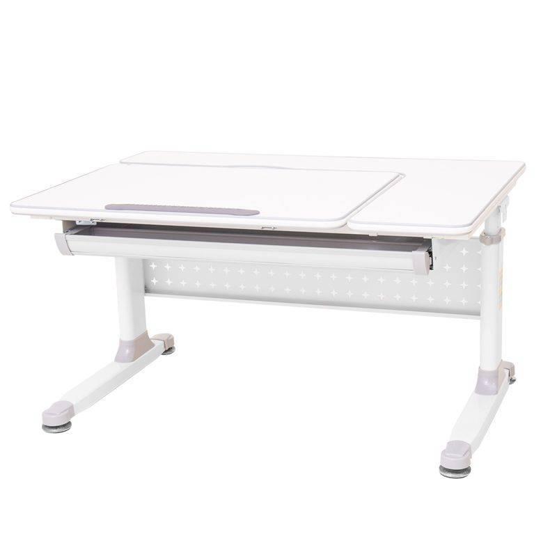 Rifforma-100 Парта растущая (цвет столешницы: белый, цвет ножек: белый, цвет кромки: светло-серый)