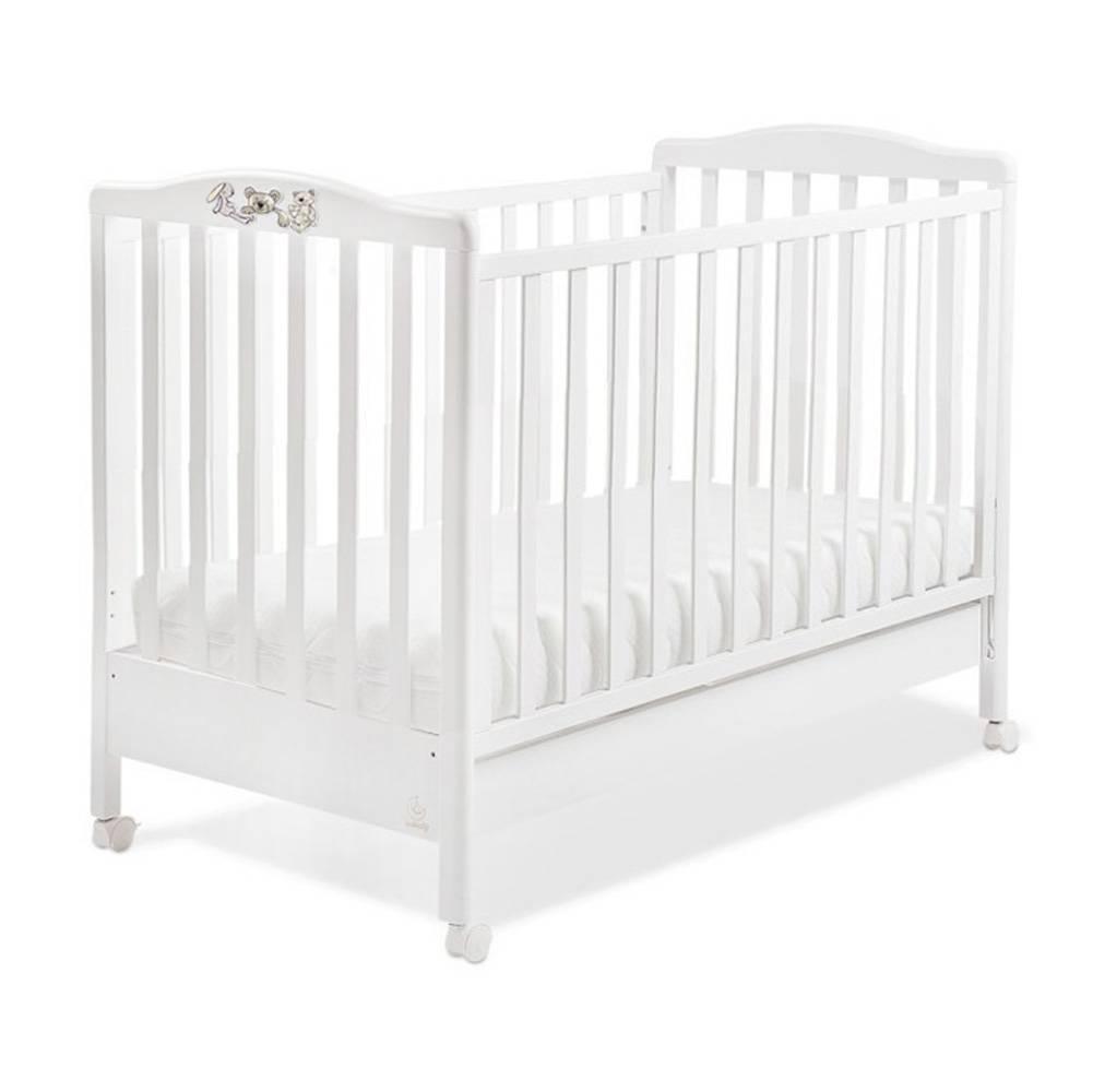 Italbaby Детская кровать Hello белая.