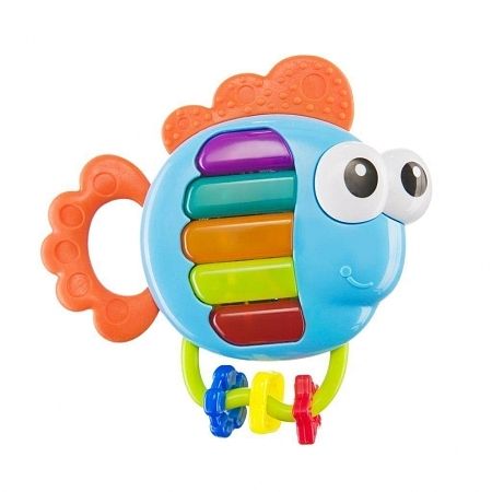 Картинка Игрушка HAPPY BABY 330369 PIANO FISH от магазина gnom.land